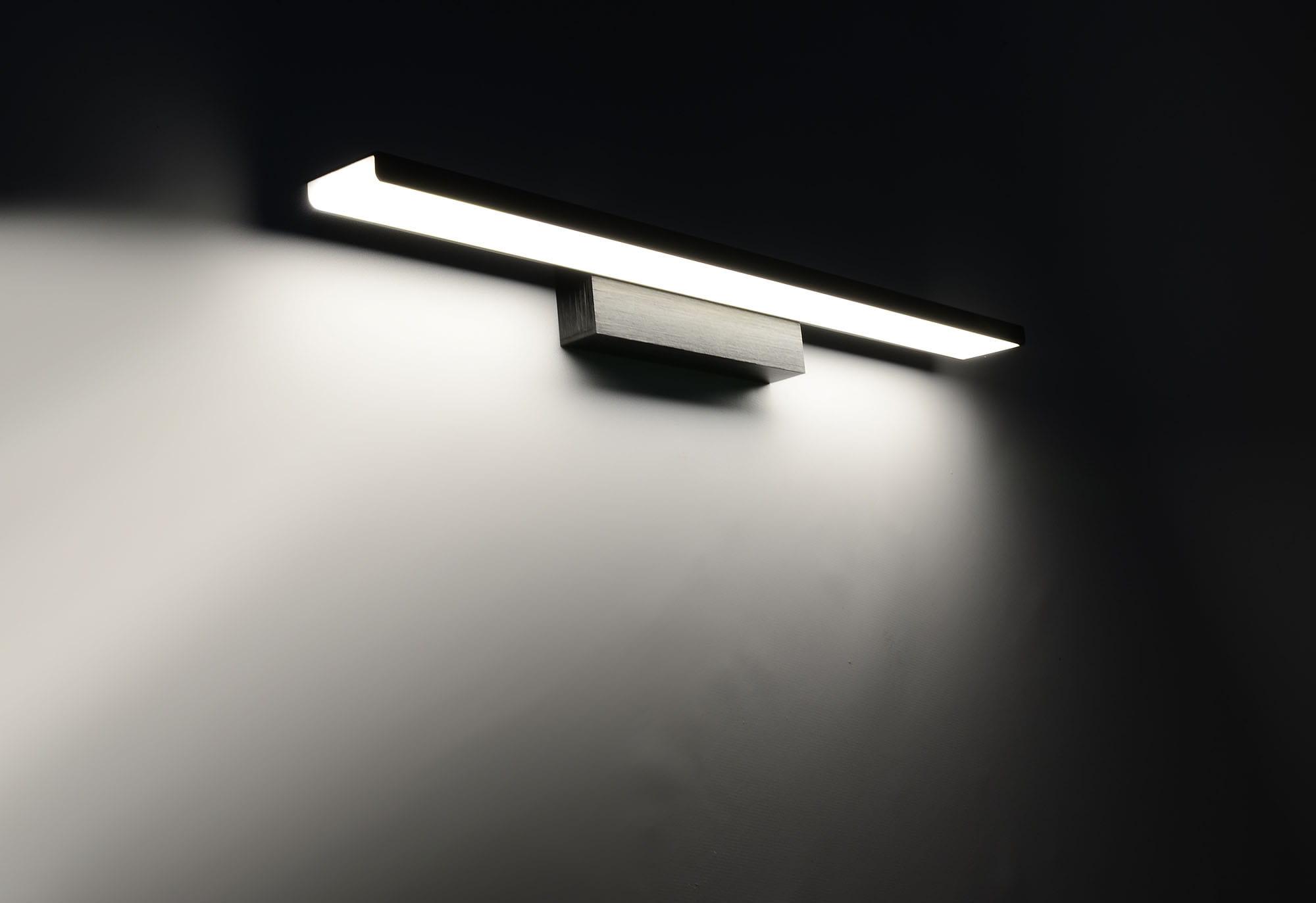 Kinkiet Nad Lustro Czarny Led 24w Lampa łazienkowa 6330